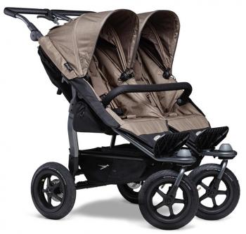 TFK sourozenecký kočárek Duo stroller - air wheel brown