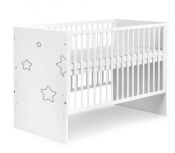 Klupš dětská postýlka TINO stars bílá
