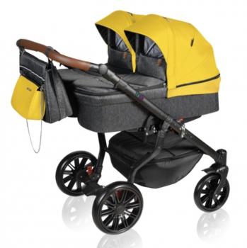 Dorjan sourozenecký kočárek TWIN VIVO 2021 06 Yellow