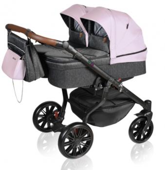 Dorjan sourozenecký kočárek TWIN VIVO 2021 04 Pink