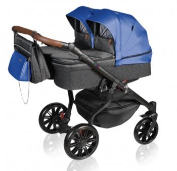 Dorjan sourozenecký kočárek TWIN VIVO 2021 03 Blue